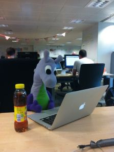 Puffles at GovUK Towers - visiting the Government Digital Service in Holborn, London