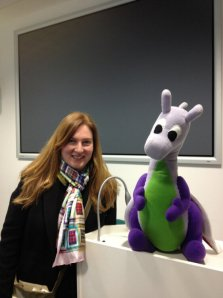 Puffles with Dr Melissa Terras of University College London at Cambridge University's Centre for Research in the Arts, Social Sciences & the Humanities