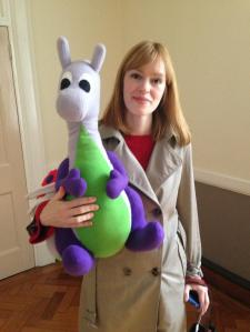 Puffles with Elodie Harper of Anglia Television
