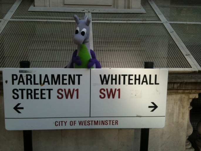 """Oh Hai! I iz Monster in Whitehall!"""