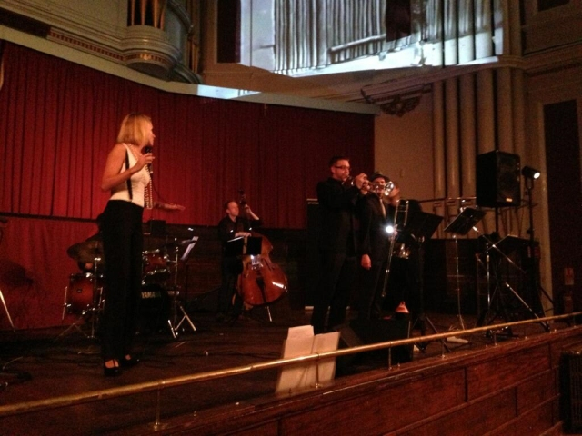 Kirsty Jarvis with Pinstripe Band at the Guildhall