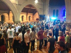 A packed church hall for Cambridge Round's Ceilidh