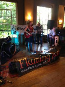 Louise Hamilton rockin' the pub at Oxjam