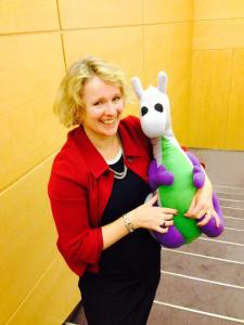 Puffles with Vicky Ford MEP for East Anglia (taken on the latter's phone)