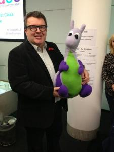 Puffles with Tom Watson MP
