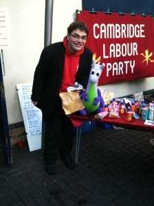 Puffles with Cllr George Owers of Coleridge Ward, Cambridge