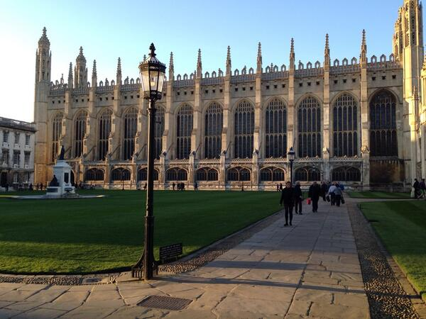 Kings College Chapel - the view greeting me as I headed from the Greens' gathering to #ThinkCon