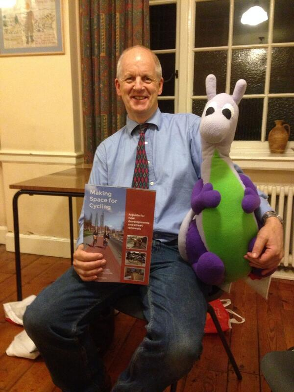 Puffles with Cllr Lewis Herbert, leader of the Labour Group (who is sharing the ballot paper with Puffles, but we're not opposing each other)