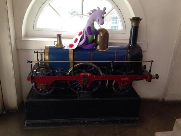 We spotted this steam train by the event room. Chances are we'd have had a smoother journey back on it!