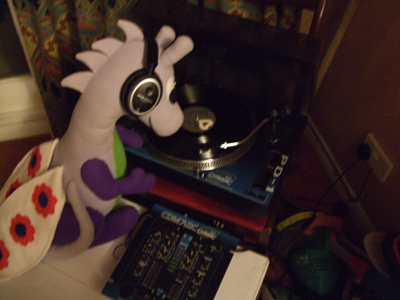 DJ Puffles on the wheels of steel