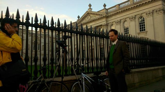 Filming Dr Rupert Read of Cambridge Green Party just before Christmas 2014
