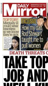 From Richard Taylor's tweet to front page of the national papers.