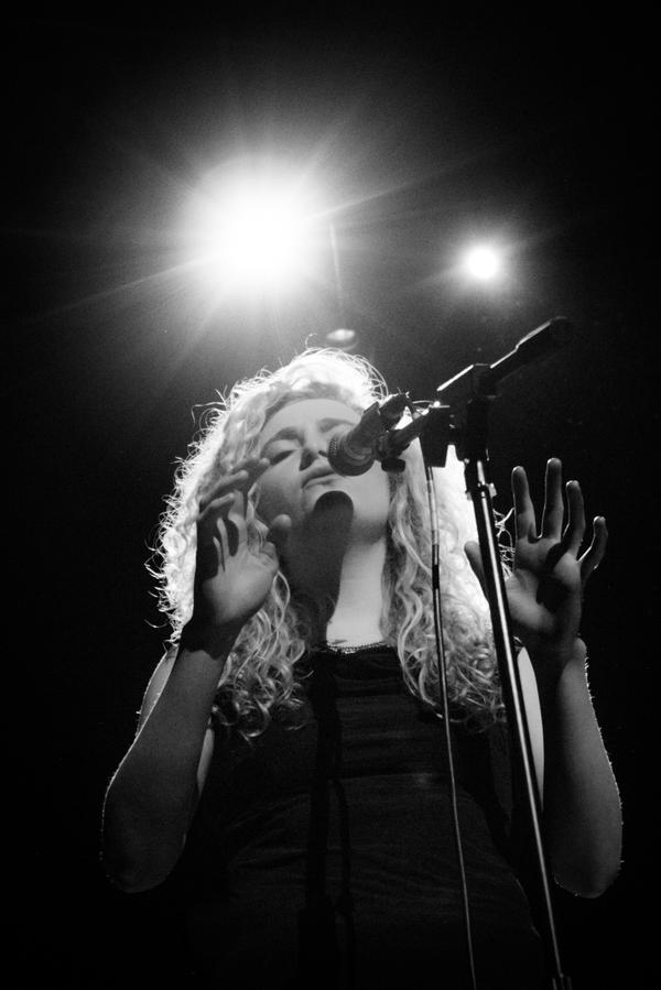 Daisy Hill at the Cambridge Corn Exchange, 1st April 2015. Photo, Mike Oliver
