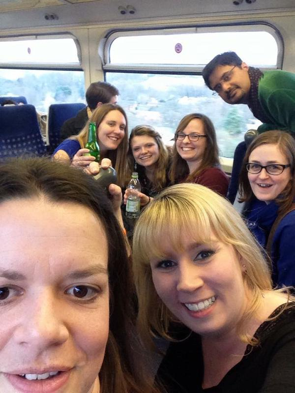 There were more of us on this carriage than in this selfie