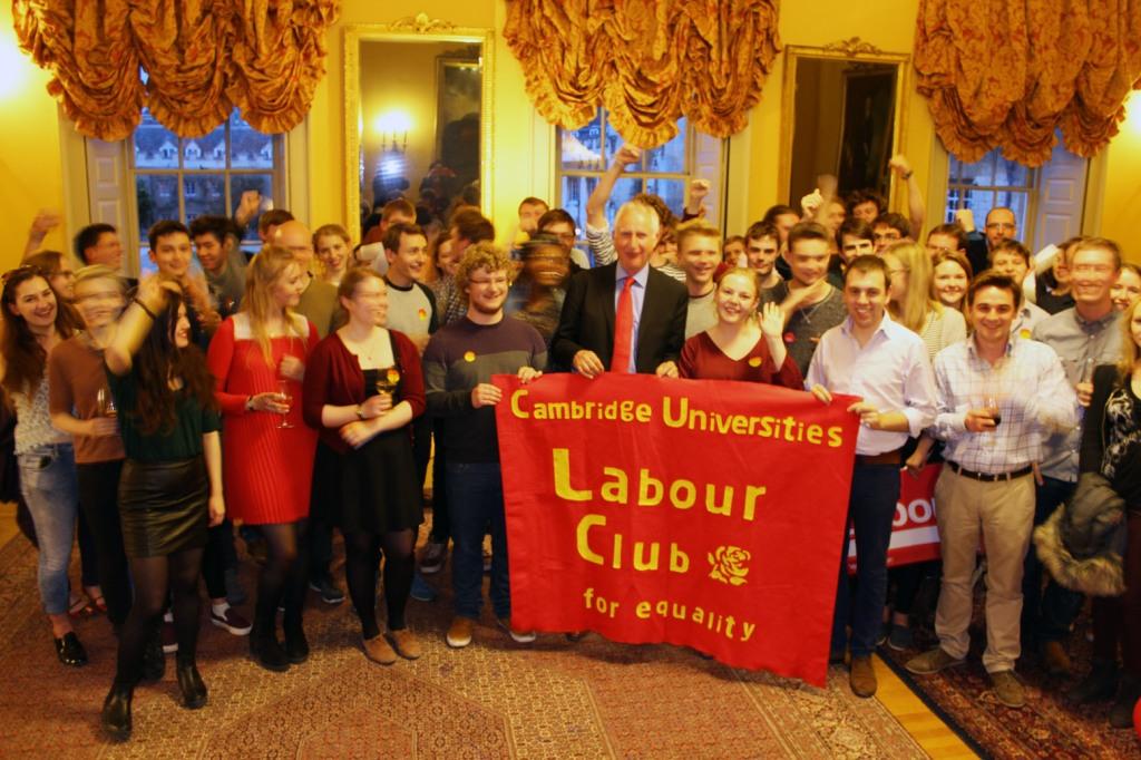 Campaign rally at Trinity College Cambridge for CULC