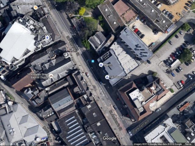 Footprint of Theatre Royal St Andrews St GoogleMap