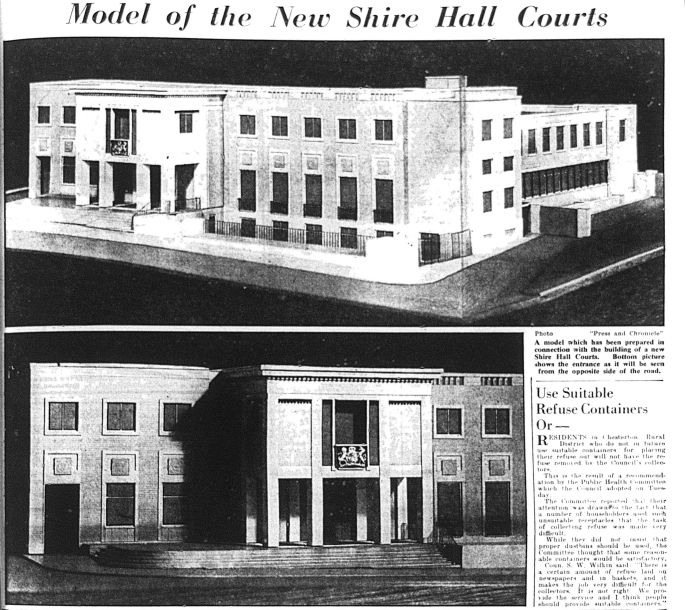 560203 New Shire Hall Courts Models