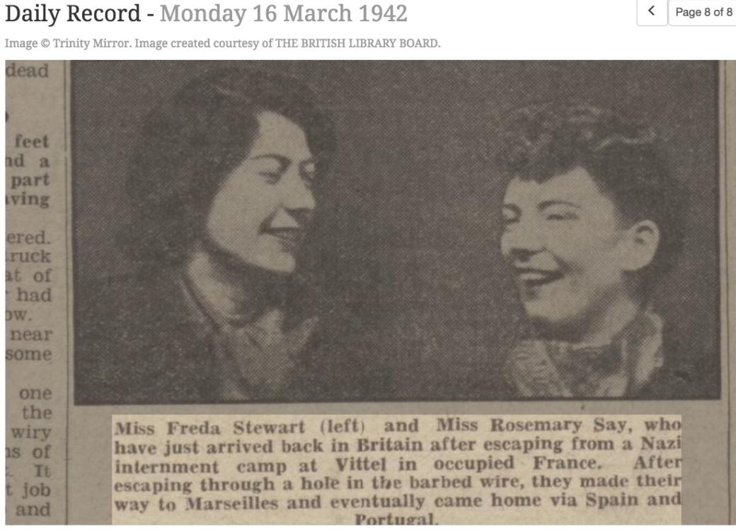 420316 Frida Stewart Rosemary May Daily Record Photo