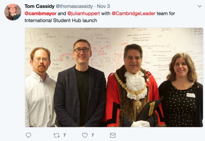 171102MayorCambridgeLeadershipCollegeTweet2