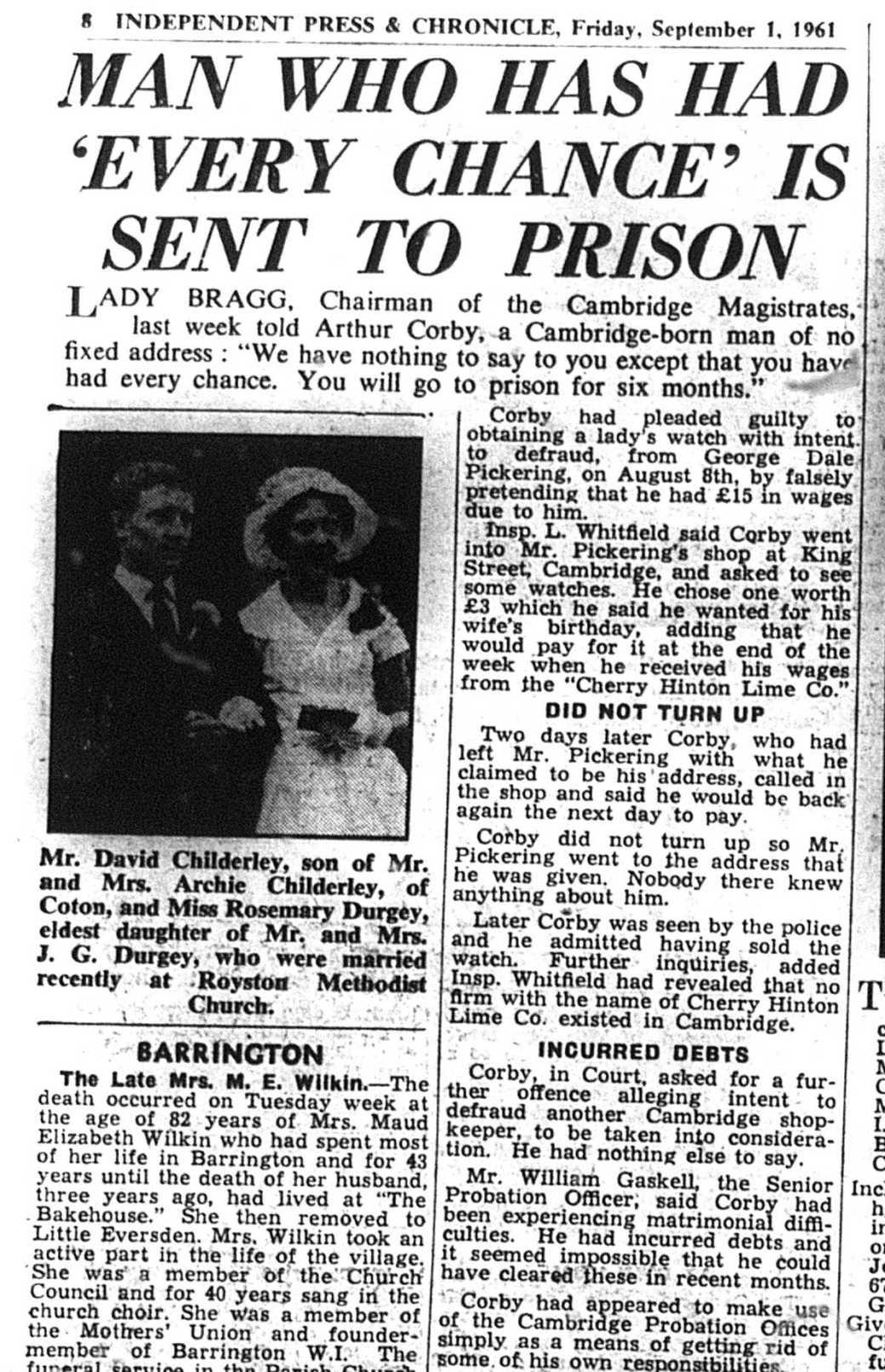 610901 Lady Bragg jails scumball