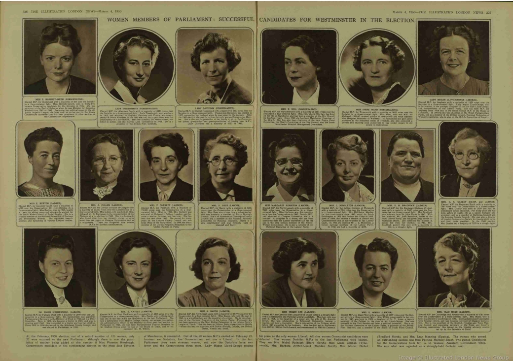 Elected Women MPs 1950 Illustrated London News.jpg