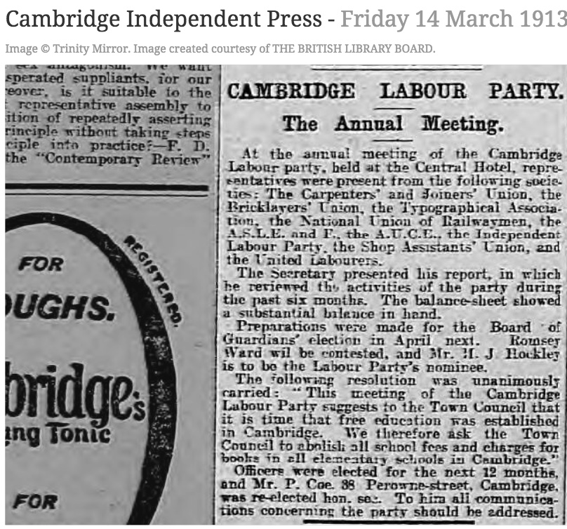130314 Cambridge Labour at Central Hotel