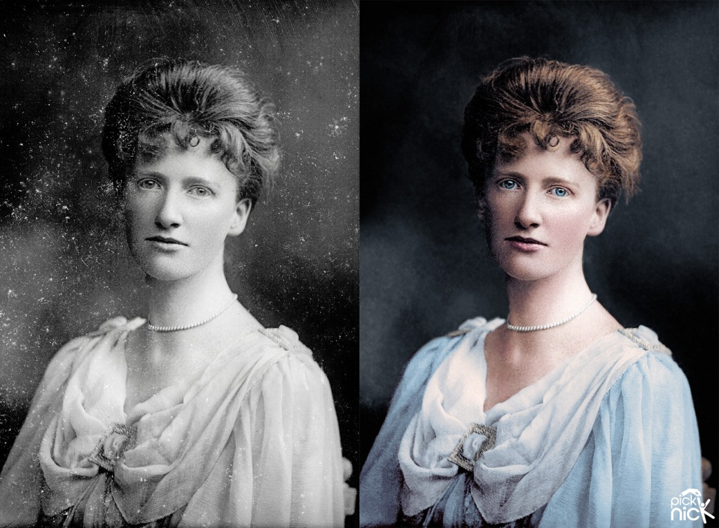 Eglantyne Jebb Palmer Clarke High Res_1.1 colourised before after