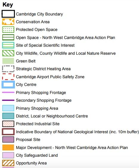 190613 Cambridge Local Plan key