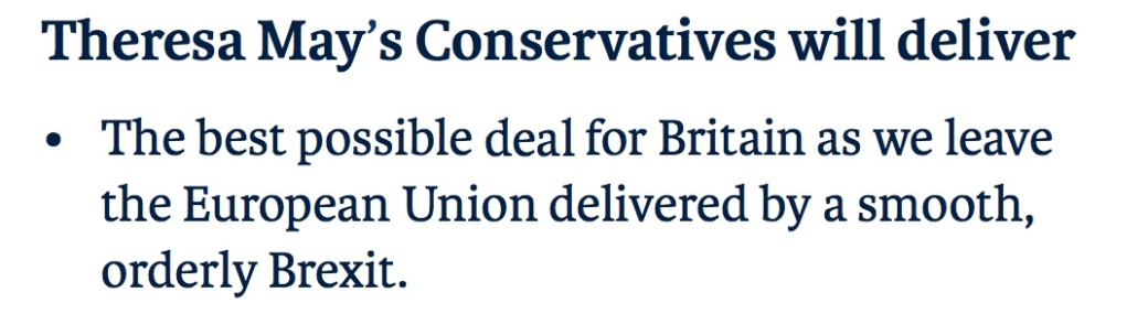 191009 Theresa May Manifesto EU Deal 2017