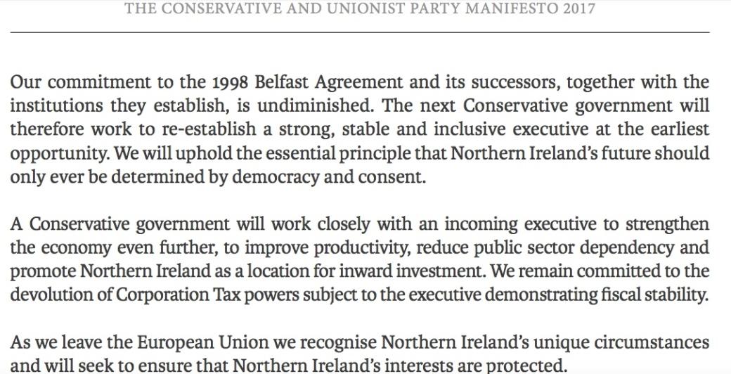 191009 Theresa May Manifesto Good Friday 2017